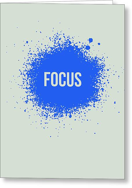 Funny Greeting Cards - Focus Splatter Poster 1 Greeting Card by Naxart Studio