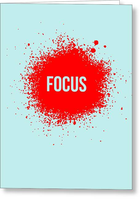 Funny Greeting Cards - Focus Splatter Poster 2 Greeting Card by Naxart Studio