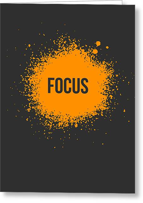 Vinyl Greeting Cards - Focus Splatter Poster 3 Greeting Card by Naxart Studio