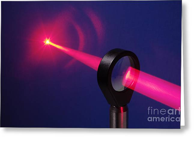 Convex Greeting Cards - Focusing Laser Light Greeting Card by GIPhotoStock