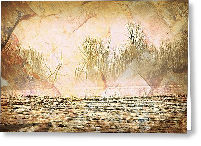 Fog Abstract 4 Greeting Card by Marty Koch
