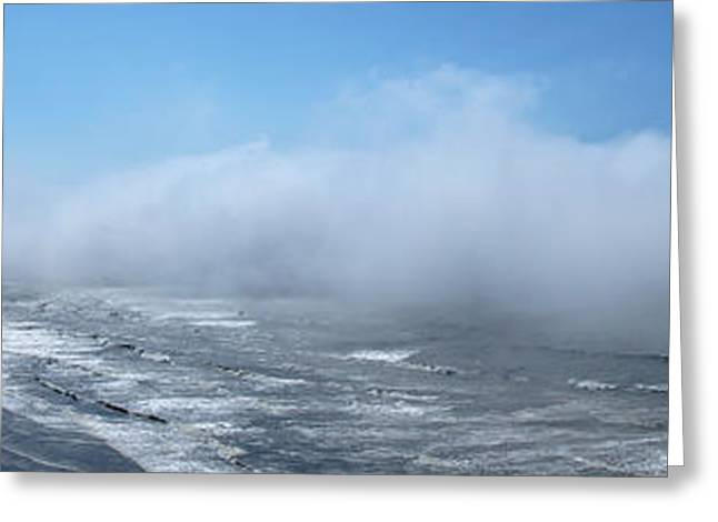 Mick Anderson Greeting Cards - Fog Advances on the Oregon Coast Greeting Card by Mick Anderson