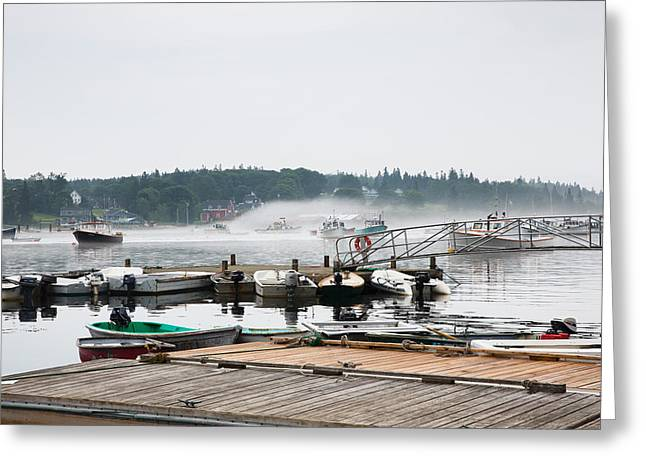Recently Sold -  - New England Village Greeting Cards - Fog Bound Greeting Card by John Bailey