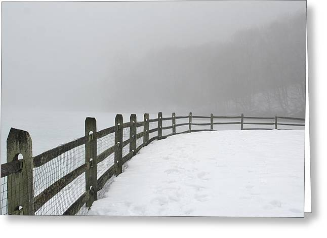 Overcast Day Greeting Cards - Fog Guide Greeting Card by Karen Silvestri