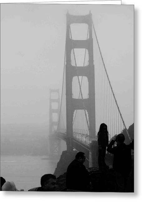 San Francisco Bay Greeting Cards - Fog Horn Kind of Day Greeting Card by Kandy Hurley