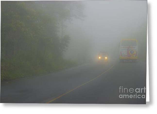 Domingo Greeting Cards - Fog In The Andes Near Santo Domingo Greeting Card by Al Bourassa