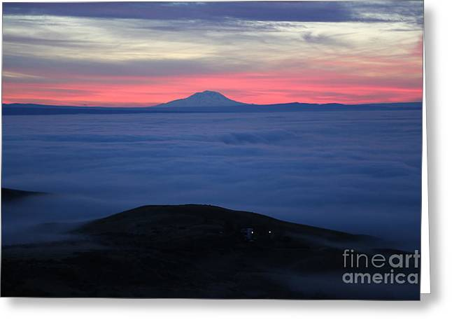 Yakima Valley Greeting Cards - Fog in the Valley Greeting Card by Carol Groenen