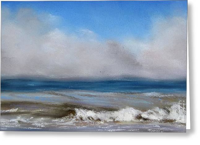 Seen Pastels Greeting Cards - Fog near sunny Stonehaven Greeting Card by Ulrike Miesen-Schuermann