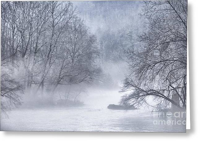 Late Fall Greeting Cards - Fog on Gauley River Greeting Card by Thomas R Fletcher