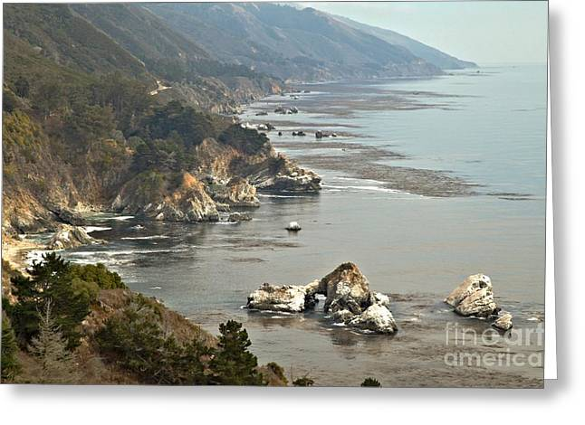 Big Sur California Greeting Cards - Fog On The Big Sur Coast Greeting Card by Adam Jewell