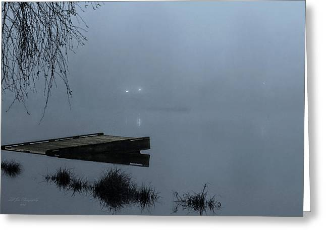 Overhang Digital Art Greeting Cards - Fog On The Lake Greeting Card by Jeanette C Landstrom