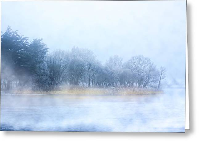 Irish Greeting Cards - Fog on the River Corrib in Galway Ireland Greeting Card by Mark E Tisdale