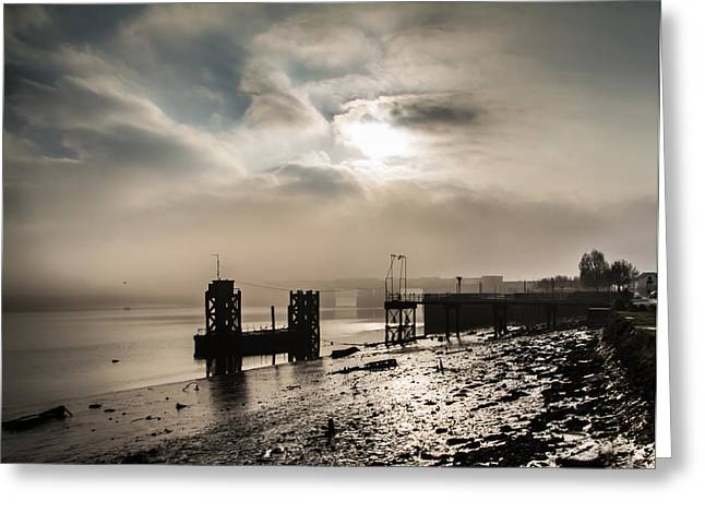 River Medway Greeting Cards - Fog on the River Medway Greeting Card by Dawn OConnor