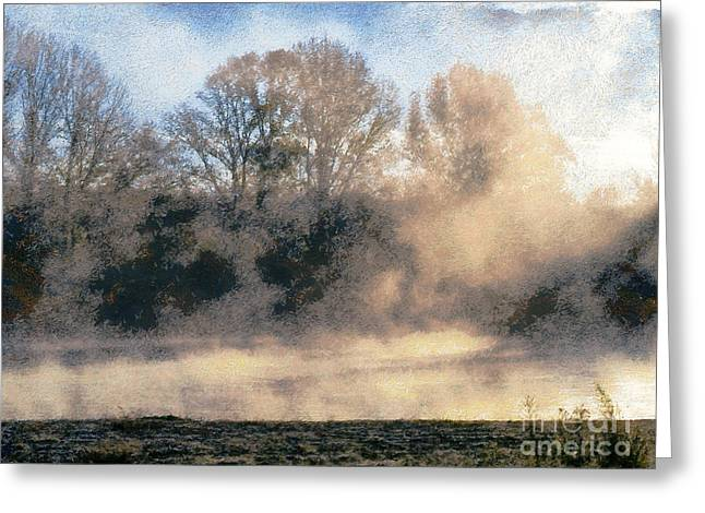 Outlook Greeting Cards - Fog on the waterfront Greeting Card by Odon Czintos