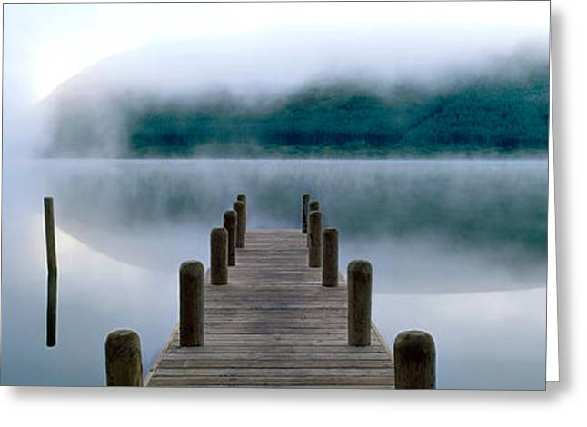 Marys Greeting Cards - Fog Over A Lake, St. Marys Loch Greeting Card by Panoramic Images