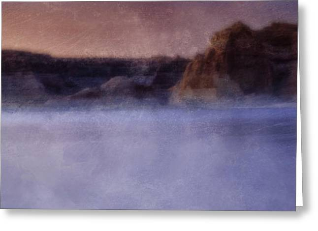 Desert Lake Greeting Cards - Fog over Lake Powell Greeting Card by Ellen Heaverlo