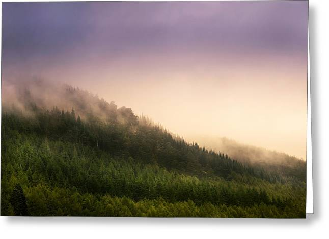 Unique View Greeting Cards - Fog over Loch Ness Hills Greeting Card by Jenny Rainbow