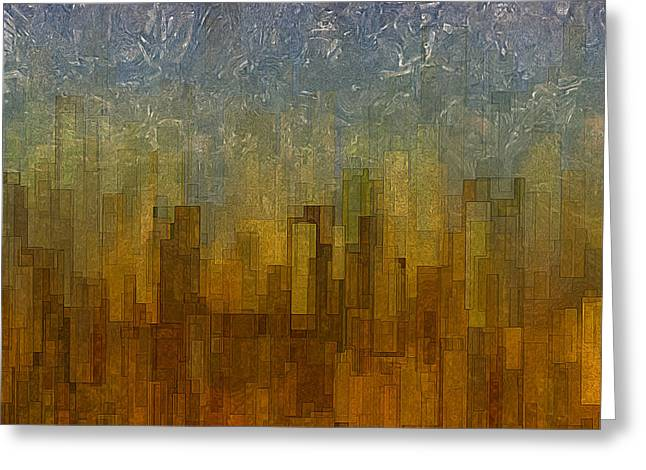 Twinkle Greeting Cards - Fog Over Midtown Greeting Card by Jack Zulli