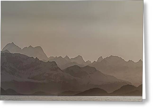 Fog Over Mountain In Glacier Bay Greeting Card by Panoramic Images