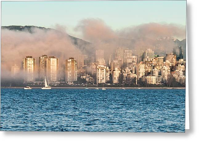 Park Scene Greeting Cards - Fog Rolling In Greeting Card by James Wheeler