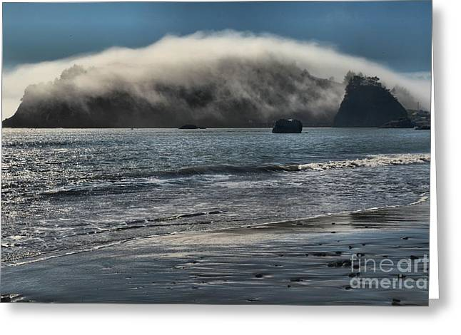 Foggy Beach Greeting Cards - Fog Rush Greeting Card by Adam Jewell