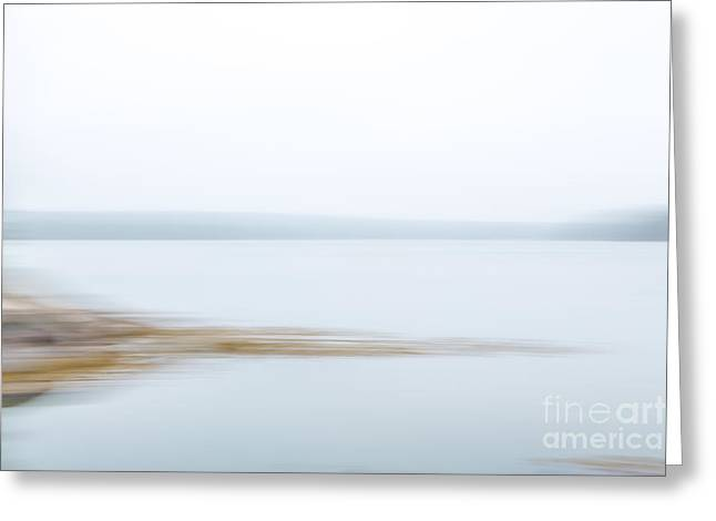 Foggy Bay 1 Greeting Card by Susan Cole Kelly Impressions
