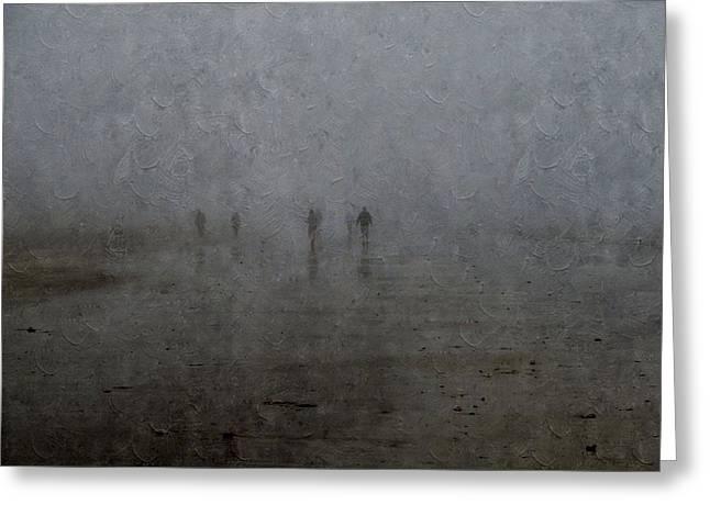 Foggy Beach Digital Greeting Cards - Foggy Beach Greeting Card by Annie Adkins
