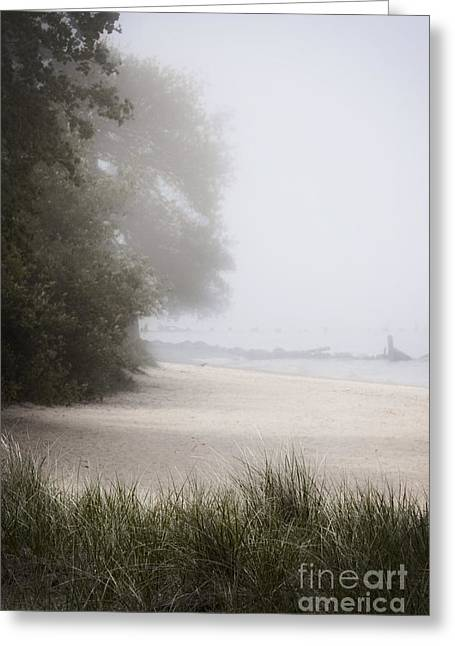 Foggy Beach Greeting Cards - Foggy Beach Greeting Card by Margie Hurwich