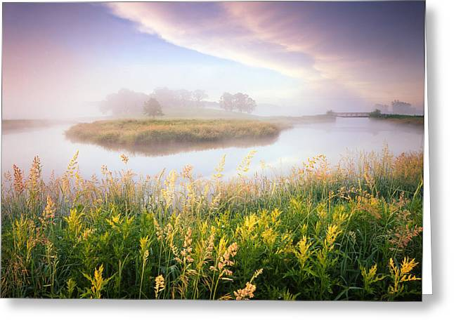 Hack-ma-tack National Wildlife Refuge Greeting Cards - Foggy Bend Greeting Card by Ray Mathis