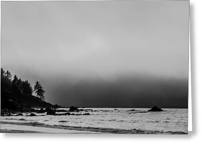 Foggy Beach Greeting Cards - Foggy Coast Greeting Card by Jim DeLillo