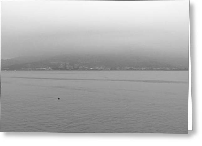Foggy Ocean Greeting Cards - Foggy Day In Taipei Greeting Card by Tamas Virag