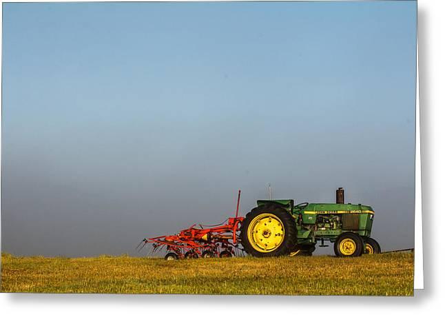 Haystack Framed Prints Greeting Cards - Foggy Deere Greeting Card by John McArthur