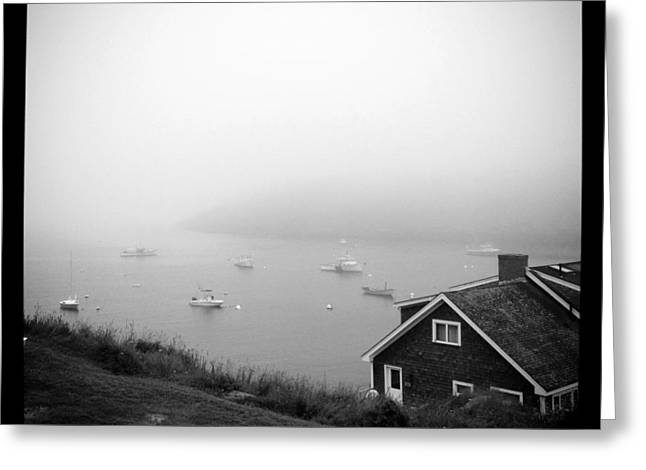 Artists Colony Greeting Cards - Foggy Manana in Black and White  Greeting Card by Jean Macaluso