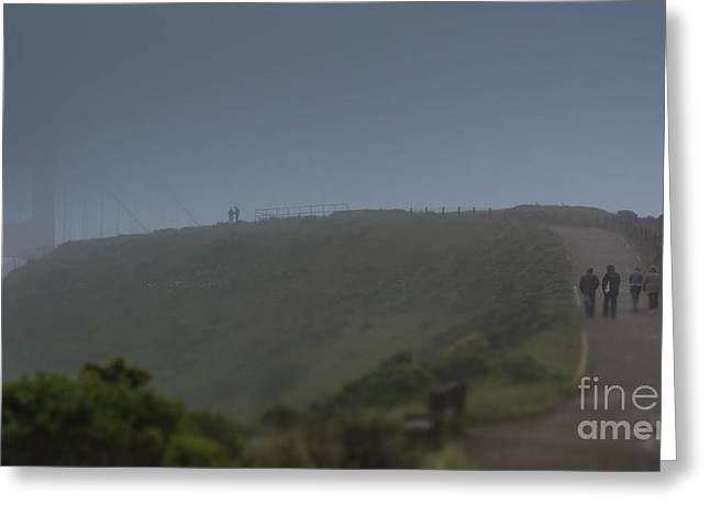 Sausalito Greeting Cards - Foggy Memories Greeting Card by Along The Trail