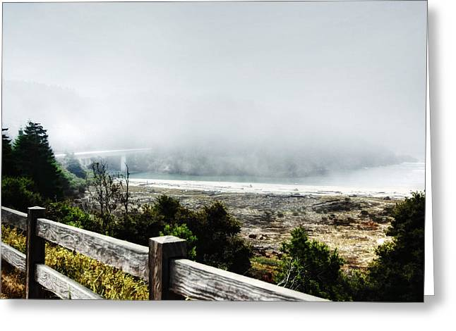 Foggy Beach Greeting Cards - Foggy Mendocino Morning Greeting Card by Kandy Hurley