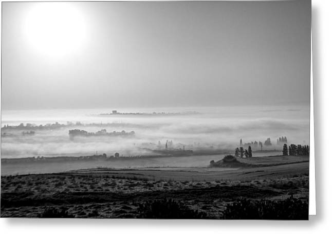 Peaceful Scene Greeting Cards - Foggy Morn 3 Greeting Card by Barb Gabay