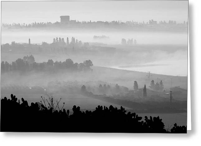 Peaceful Scene Greeting Cards - Foggy Morn Greeting Card by Barb Gabay