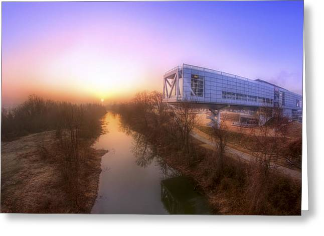 William Clinton Greeting Cards - Foggy Morning at the Clinton Presidential Library - Little Rock - Arkansas  Greeting Card by Jason Politte