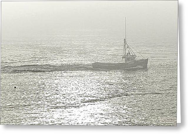 Foggy Ocean Greeting Cards - Foggy Morning Departure Greeting Card by Marty Saccone