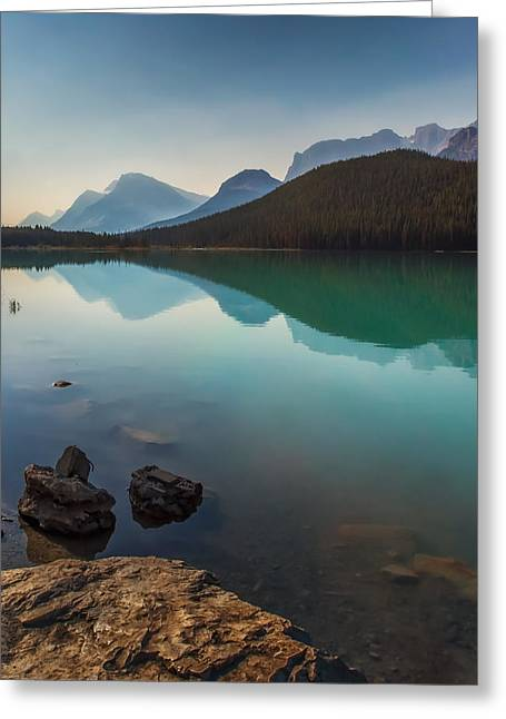 Reflections Of Sky In Water Greeting Cards - Foggy Morning Greeting Card by Eduardo Tavares