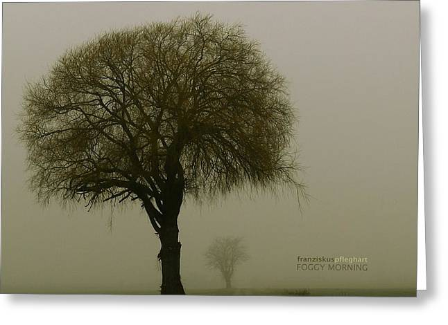 Foggy Landscape Greeting Cards - Foggy Morning Greeting Card by Franziskus Pfleghart