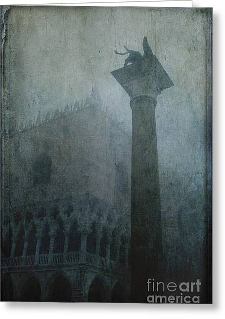 St. Mark Greeting Cards - Foggy Morning Greeting Card by Marion Galt
