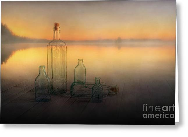 Artist Photographs Greeting Cards - Foggy Morning Greeting Card by Veikko Suikkanen