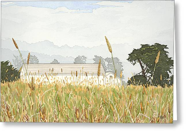 Ano Nuevo Greeting Cards - Foggy Morning Walk Ano Nuevo Greeting Card by Kerry Van Stockum
