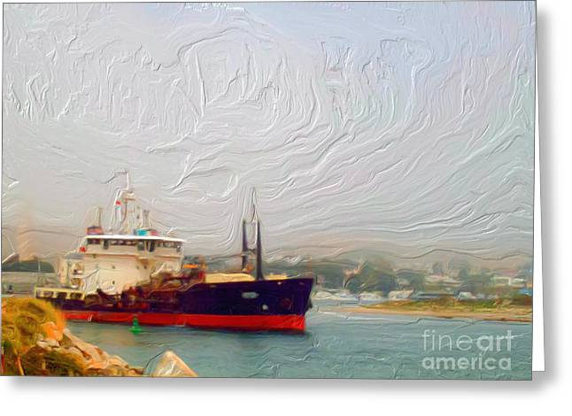 Foggy Morro Bay Greeting Card by Methune Hively
