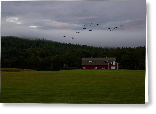 Massachussetts Greeting Cards - Foggy Mountains Greeting Card by Kathleen Odenthal