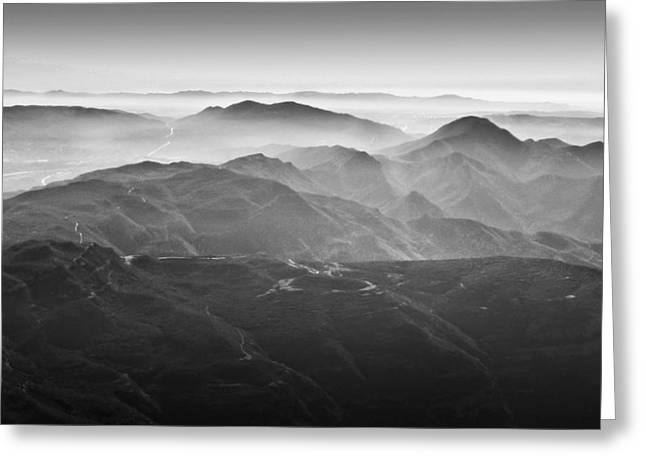 Foggy Mountains Greeting Card by Nadya Ost