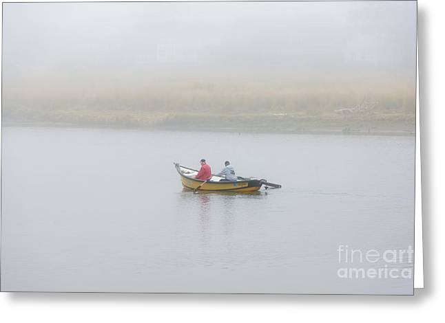 Morning Mist Greeting Cards - Foggy Nestucca Greeting Card by Mike  Dawson