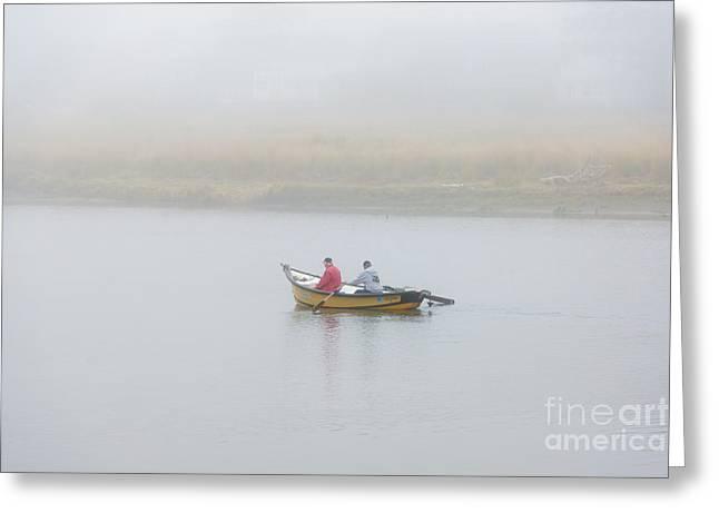 Foggy Nestucca Greeting Card by Mike  Dawson