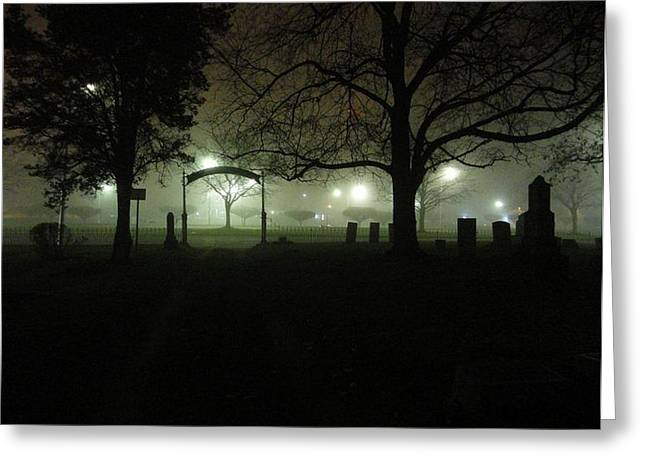 Guy Ricketts Photography Greeting Cards - Foggy Resting Place Greeting Card by Guy Ricketts